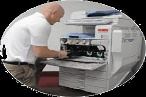 تعمیر کاغذ کش دستگاه کپی ریکو