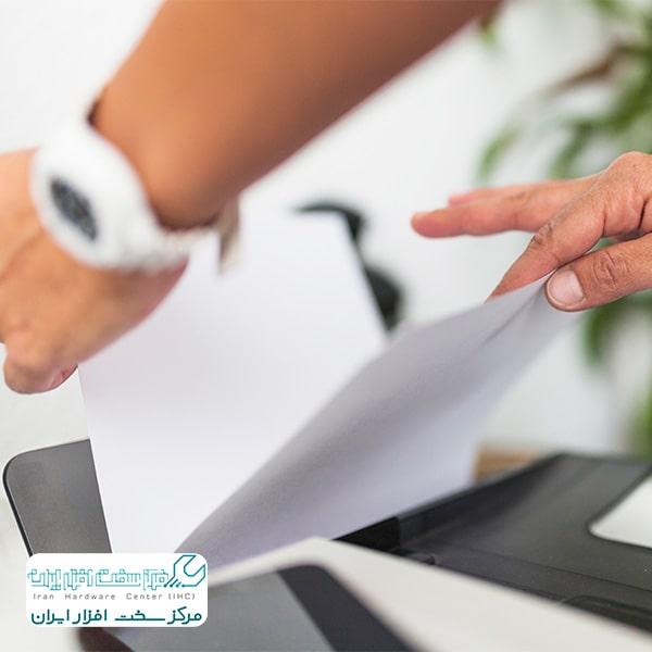 به هم چسبیدن کاغذها در دستگاه کپی